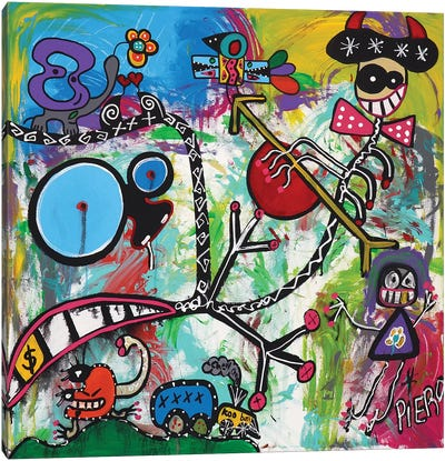 Flying Flower Canvas Art Print