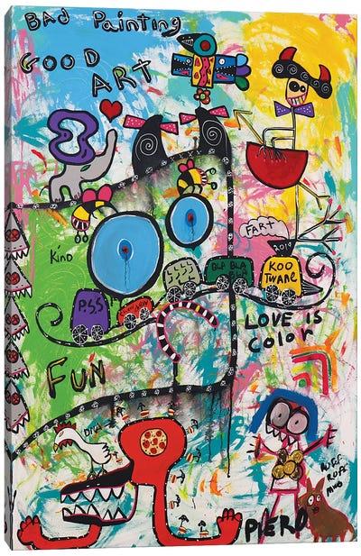 Fun Color Canvas Art Print