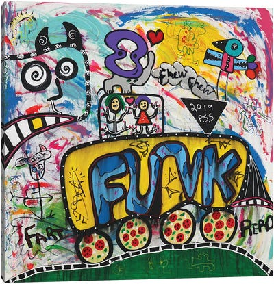 Funk Fun Canvas Art Print