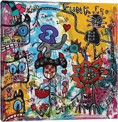 Funk Love Canvas Art Print
