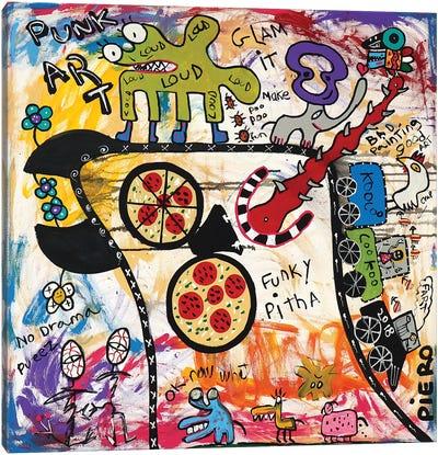 Funky Pizza Canvas Art Print