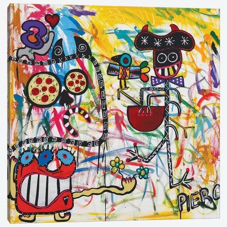 Happy Monster 3-Piece Canvas #PIR68} by Piero Canvas Print