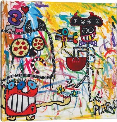 Happy Monster Canvas Art Print