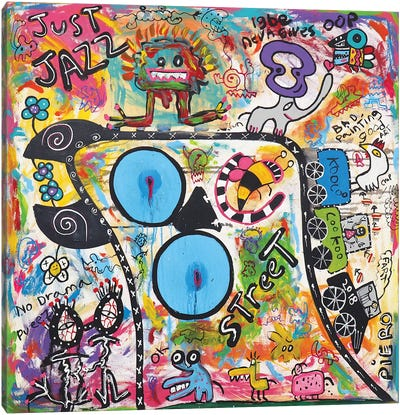 Just Jazz Canvas Art Print