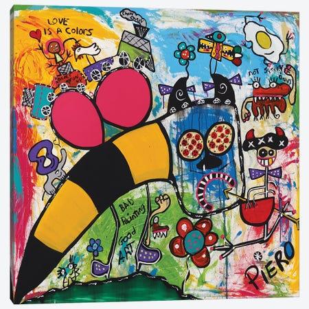 Bee Bull Canvas Print #PIR8} by Piero Canvas Artwork