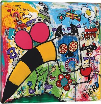Bee Bull Canvas Art Print
