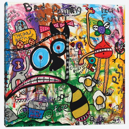 Bee Cool Canvas Print #PIR9} by Piero Canvas Artwork