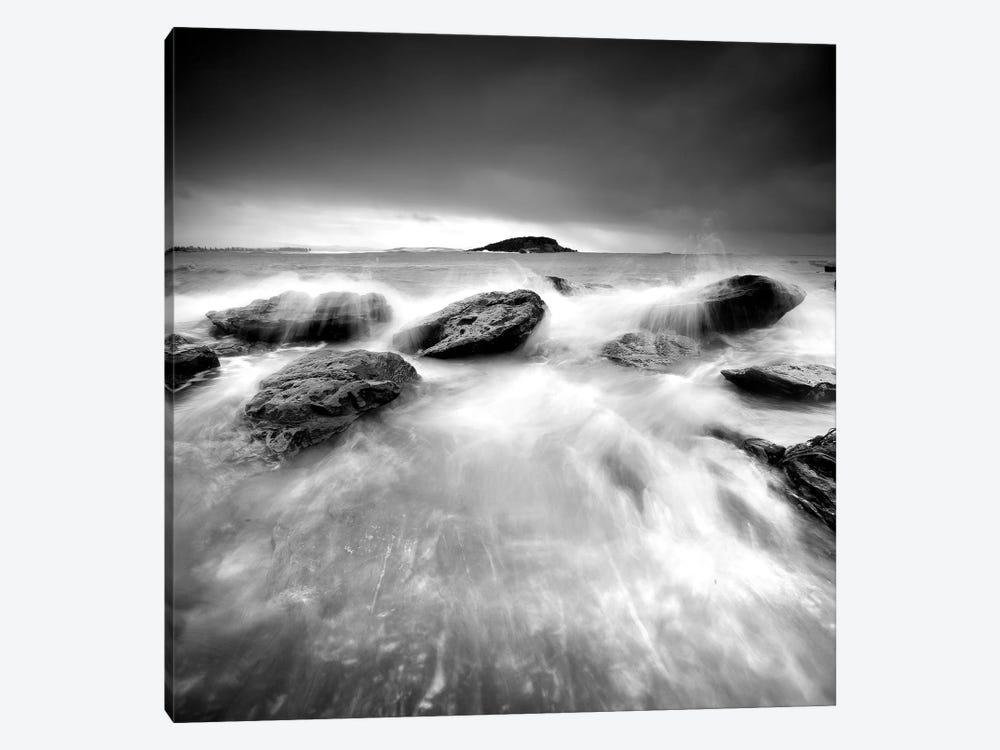 Waves On Rocks I by PhotoINC Studio 1-piece Canvas Art
