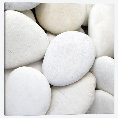White Pebbles Canvas Print #PIS169} by PhotoINC Studio Canvas Art Print