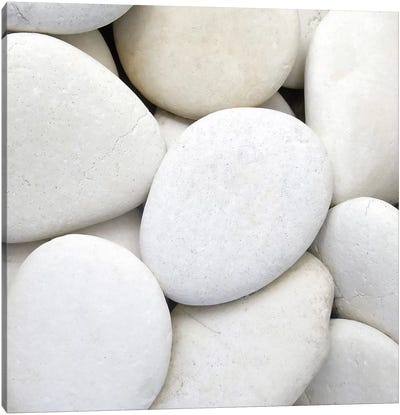 White Pebbles Canvas Art Print