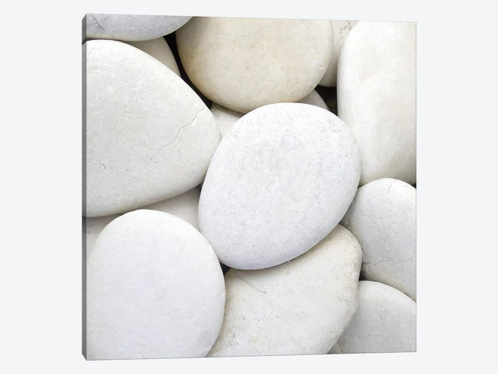White Pebbles by PhotoINC Studio 1-piece Art Print