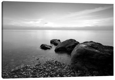 Beach Rocks II Canvas Print #PIS17
