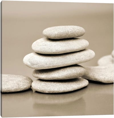 Zen Pebbles I Canvas Art Print