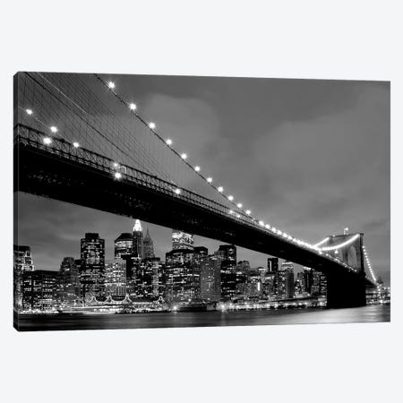 Brooklyn Bridge VIew Canvas Print #PIS30} by PhotoINC Studio Canvas Print