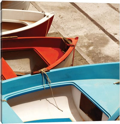 Colorful Boats Canvas Print #PIS47