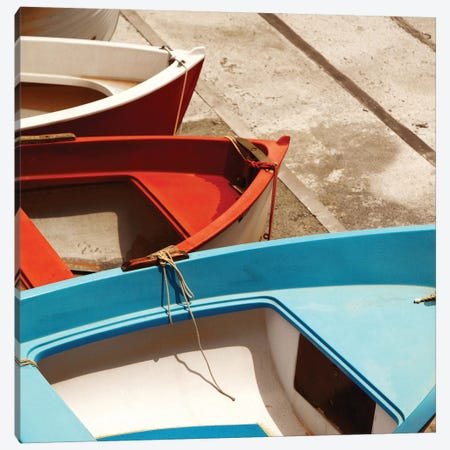 Colorful Boats Canvas Print #PIS47} by PhotoINC Studio Art Print