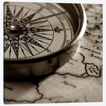 Compass Canvas Print #PIS48} by PhotoINC Studio Canvas Art