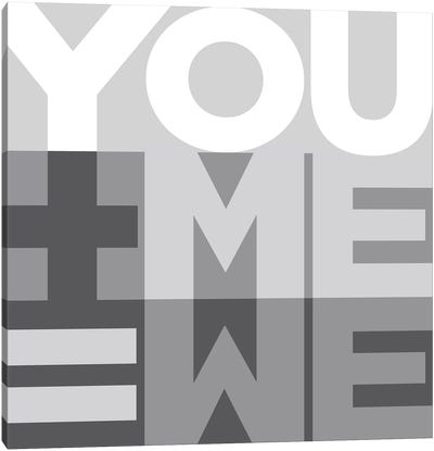 You Me We I Canvas Art Print