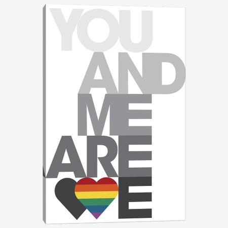 You Me We IV Canvas Print #PJO4} by Parker Jones Canvas Wall Art