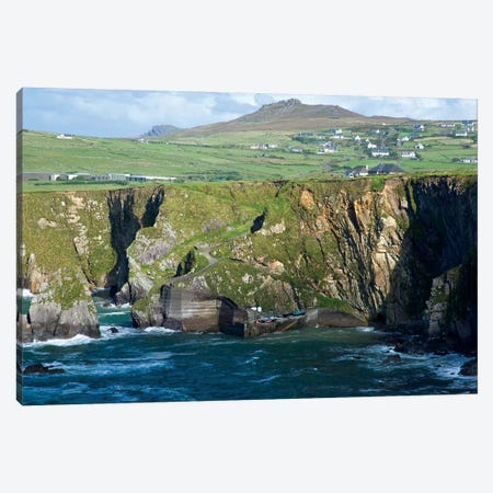 Dingle Peninsula Coastline, Ireland, Ciffs, Landscape Canvas Print #PJW2} by Patrick J. Wall Canvas Wall Art