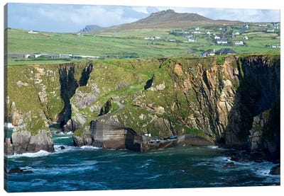 Dingle Peninsula Coastline, Ireland, Ciffs, Landscape Canvas Art Print