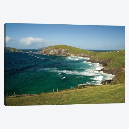 Dingle Peninsula Coastline, Ireland, Waves Canvas Print #PJW3} by Patrick J. Wall Canvas Artwork