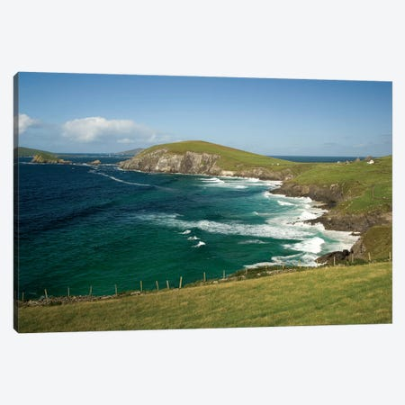 Dingle Peninsula Coastline, Ireland, Waves Canvas Print #PJW3} by Patrick J. Wall Canvas Artwork