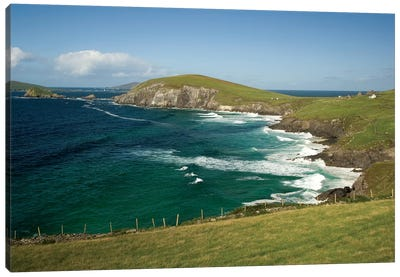 Dingle Peninsula Coastline, Ireland, Waves Canvas Art Print
