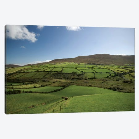 Irish Countryside, Ireland, Farms, Landscape, Scenic 3-Piece Canvas #PJW4} by Patrick J. Wall Canvas Print
