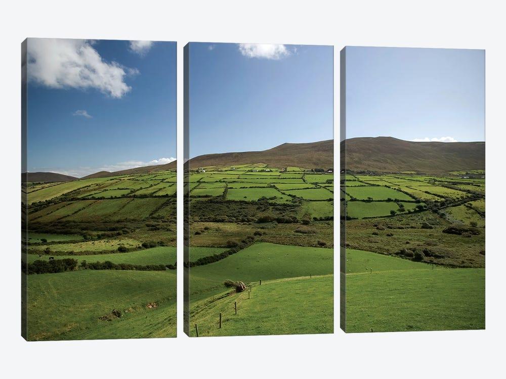 Irish Countryside, Ireland, Farms, Landscape, Scenic by Patrick J. Wall 3-piece Canvas Wall Art