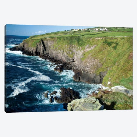 Shoreline, Dingal Peninsula, Ireland, Water, Coast, Cliff Canvas Print #PJW6} by Patrick J. Wall Canvas Art Print