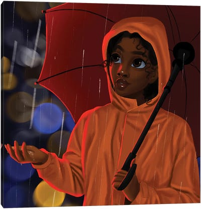 In The Rain Canvas Art Print