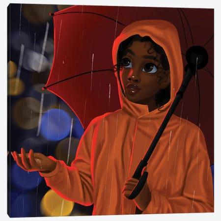 In The Rain Canvas Print #PKA12} by Princess Karibo Canvas Art