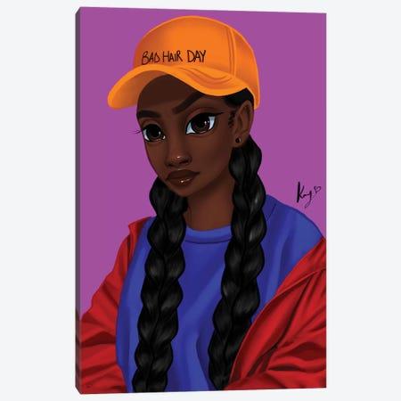 Mean Mug Canvas Print #PKA13} by Princess Karibo Canvas Wall Art