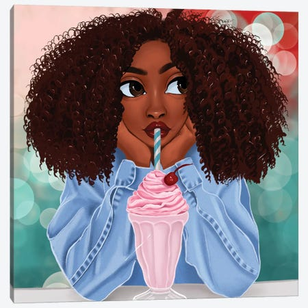 Milkshake Canvas Print #PKA14} by Princess Karibo Art Print