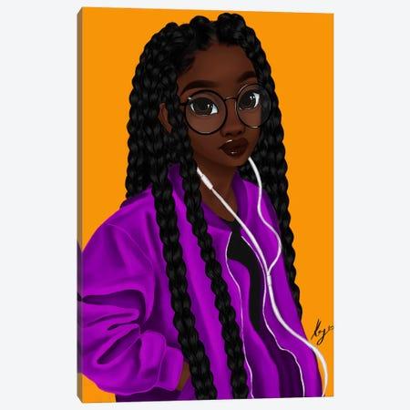 Music Canvas Print #PKA15} by Princess Karibo Canvas Print
