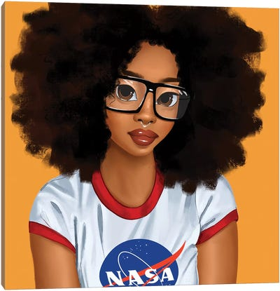 Nerd Girl Canvas Art Print