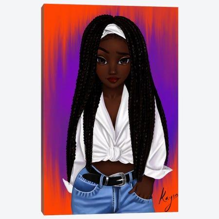 Poetic Canvas Print #PKA19} by Princess Karibo Canvas Artwork