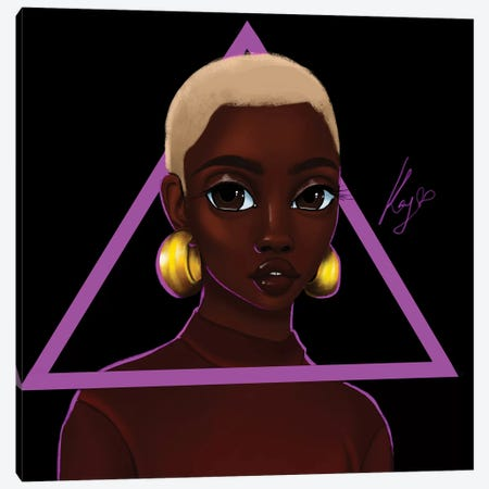 Triangle Canvas Print #PKA27} by Princess Karibo Canvas Artwork