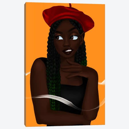 Whimsy 3-Piece Canvas #PKA28} by Princess Karibo Canvas Print