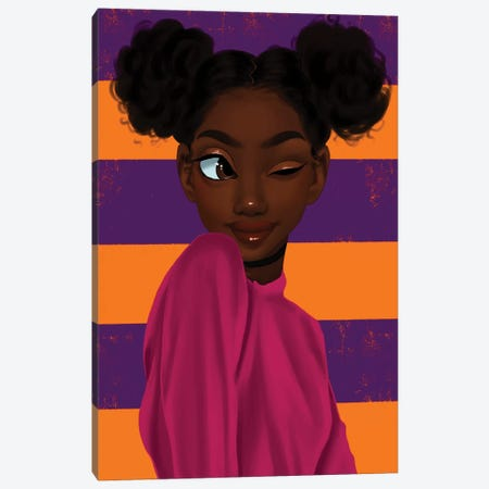 Yara Canvas Print #PKA30} by Princess Karibo Canvas Art