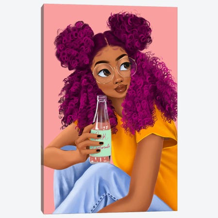 Drink Canvas Print #PKA3} by Princess Karibo Canvas Artwork
