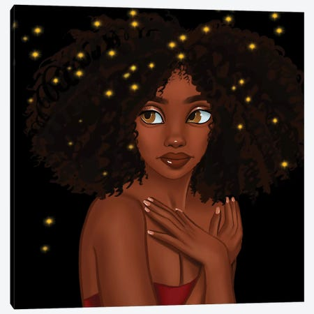 Fireflies Canvas Print #PKA5} by Princess Karibo Canvas Print