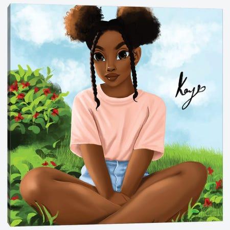 Garden 3-Piece Canvas #PKA6} by Princess Karibo Canvas Art Print