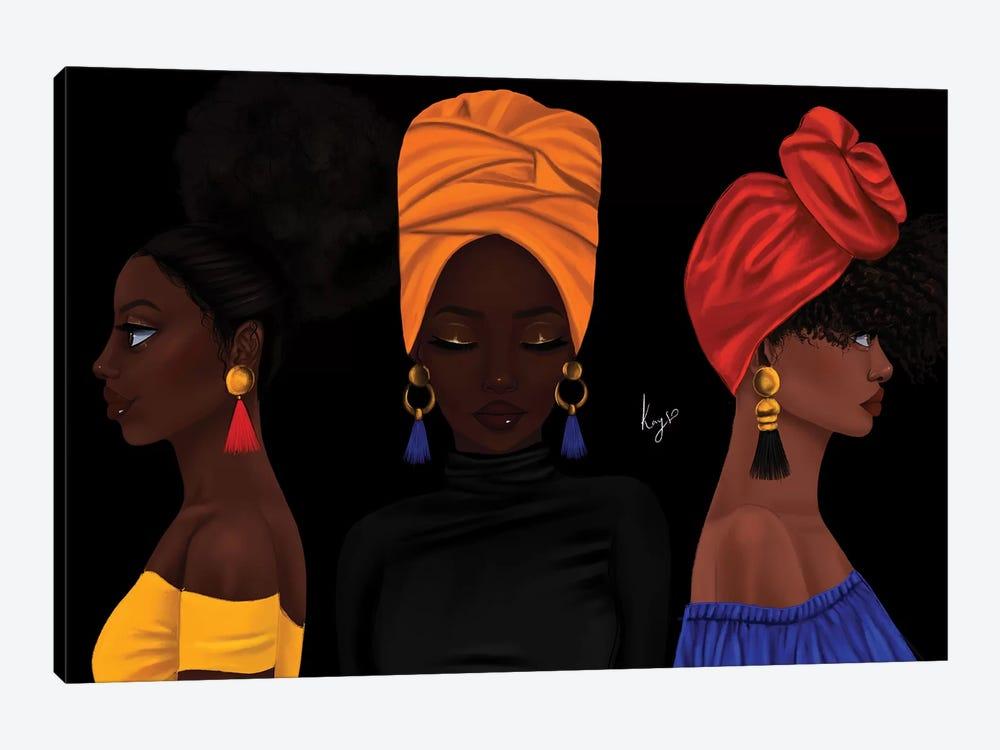 Girls by Princess Karibo 1-piece Canvas Artwork