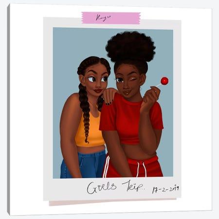 Girls' Trip 3-Piece Canvas #PKA8} by Princess Karibo Canvas Artwork