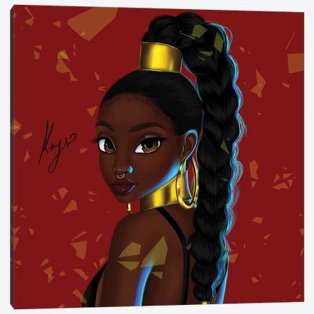 Gold Canvas Print #PKA9} by Princess Karibo Canvas Art