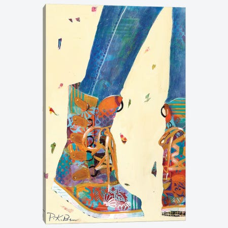 Hiking Boots Canvas Print #PKB2} by Pamela K. Beer Art Print