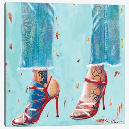 Red Heels Canvas Print #PKB3} by Pamela K. Beer Canvas Print