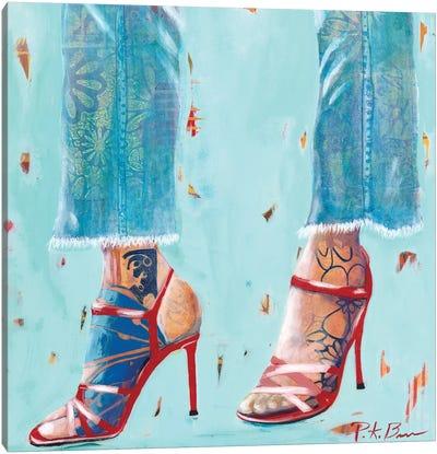 Red Heels Canvas Art Print